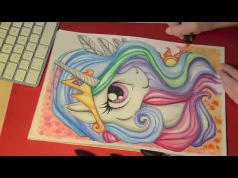 Speed painting/drawing MLP - Princess Celestia