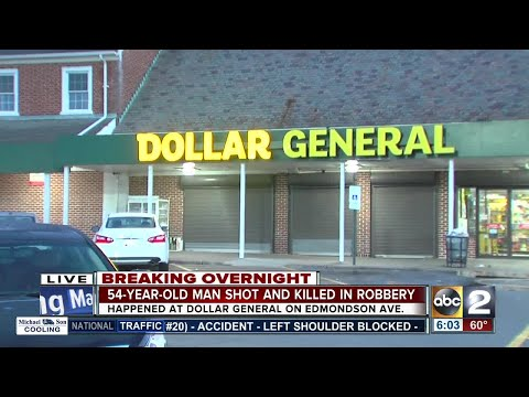Man shot, killed after robbery at Dollar General store in W. Baltimore