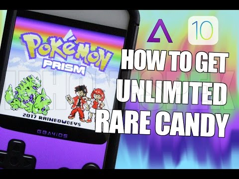 How To Get Unlimited Rare Candy Pokemon Prism Gameshark Cheat Code IOS 11 10 9 IPhone