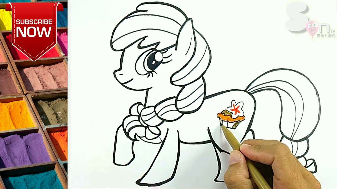 My little pony kudaponi unicorn menggambar dan mewarnaidrawing and coloring