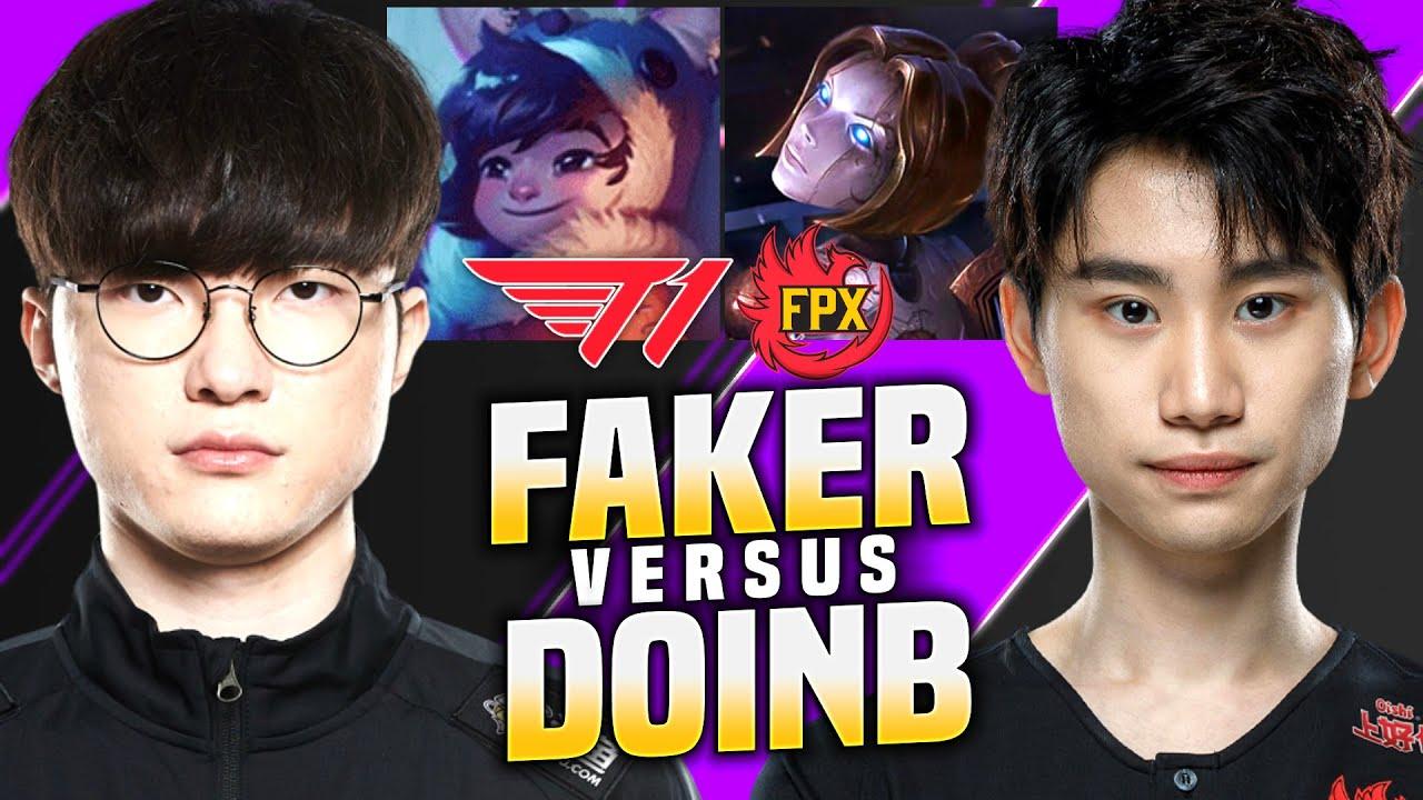 FAKER REMATCH VS DOINB! - SKT T1 Faker Plays Nunu Mid vs DoinB Orianna! | KR SoloQ Patch 10.13