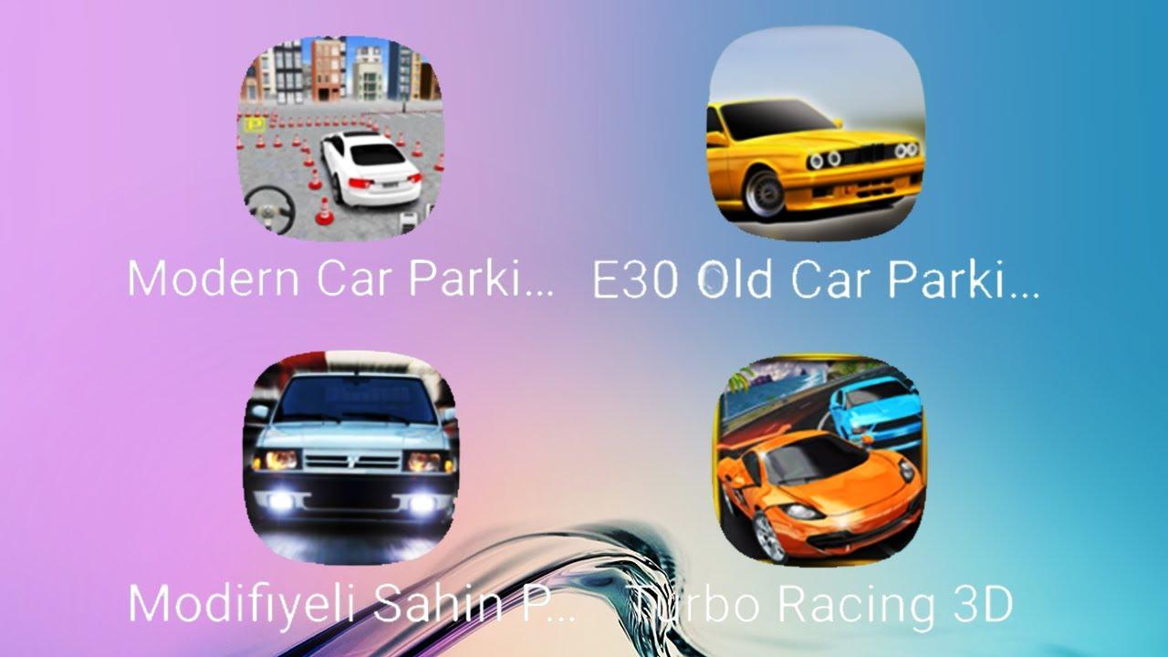 Modifiyeli Sahin Park Etme, Modern Car Parking, E30 Old Car Parking, Turbo Racing 3D