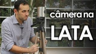 Câmera fotográfica pinhole de lata  (experiência de física) - How to make pinhole camera