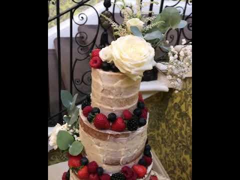 Semi-naked cake wedding cake at Hedsor House