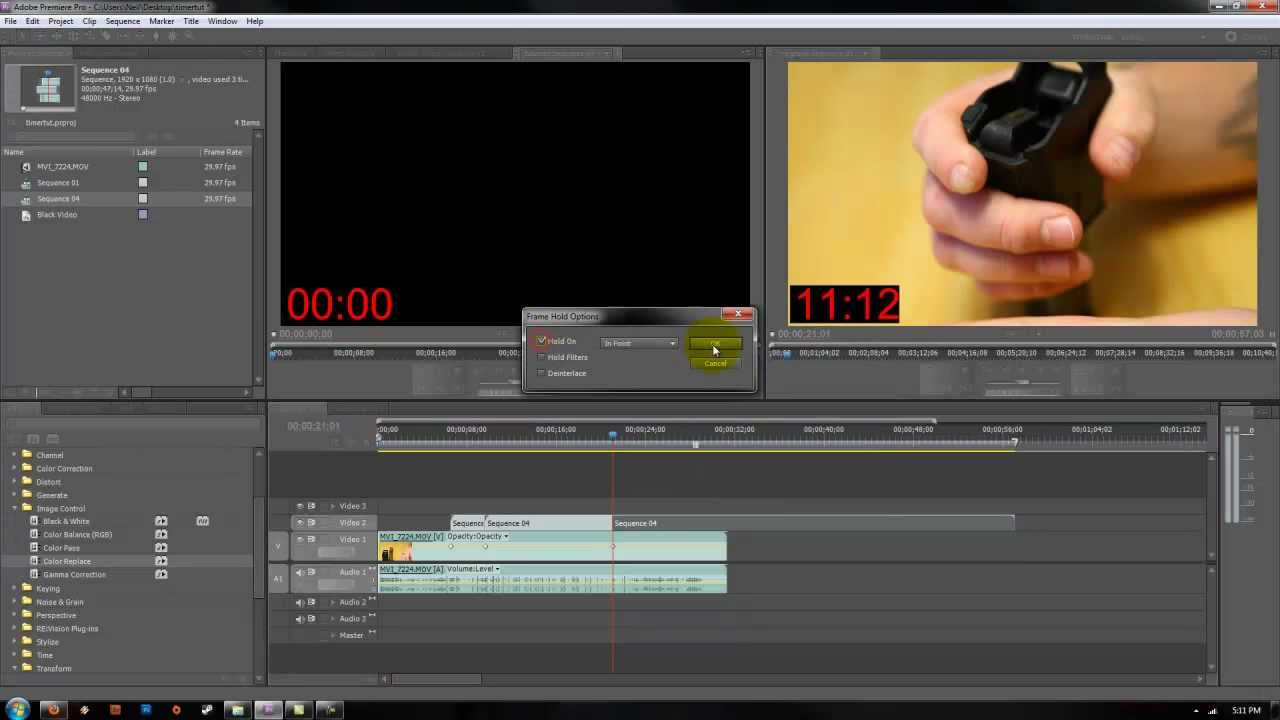 How to add timer in adobe premiere pro cs5 cs6 youtube ccuart Choice Image