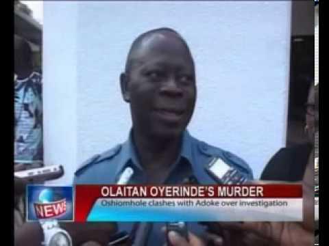 Olaitan Oyerinde's Murder: Oshiomhole Clashes With Adoke Over   Investigation