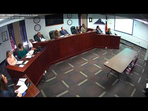 Brazos County Commissioners Court 01-23-18