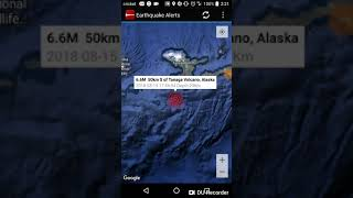 Strongest Earthquake of the Day: August 15th, 2018 Tanaga Volcano, Alaska