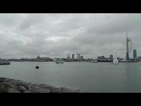 Gosport Portsmouth Ferry and Harbour traffic Hampshire England UK