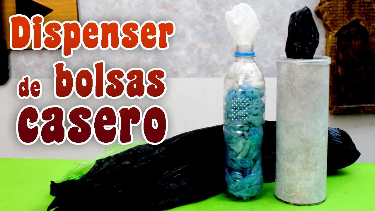 Como hacer un porta bolsas casero dispenser de bolsas - Plastico inyectado casero ...