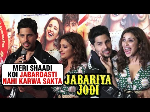 Sidharth Malhotra On Kiara, Parineeti's CRAZY Fan | Jabariya Jodi FULL Trailer Launch | UNCUT Mp3
