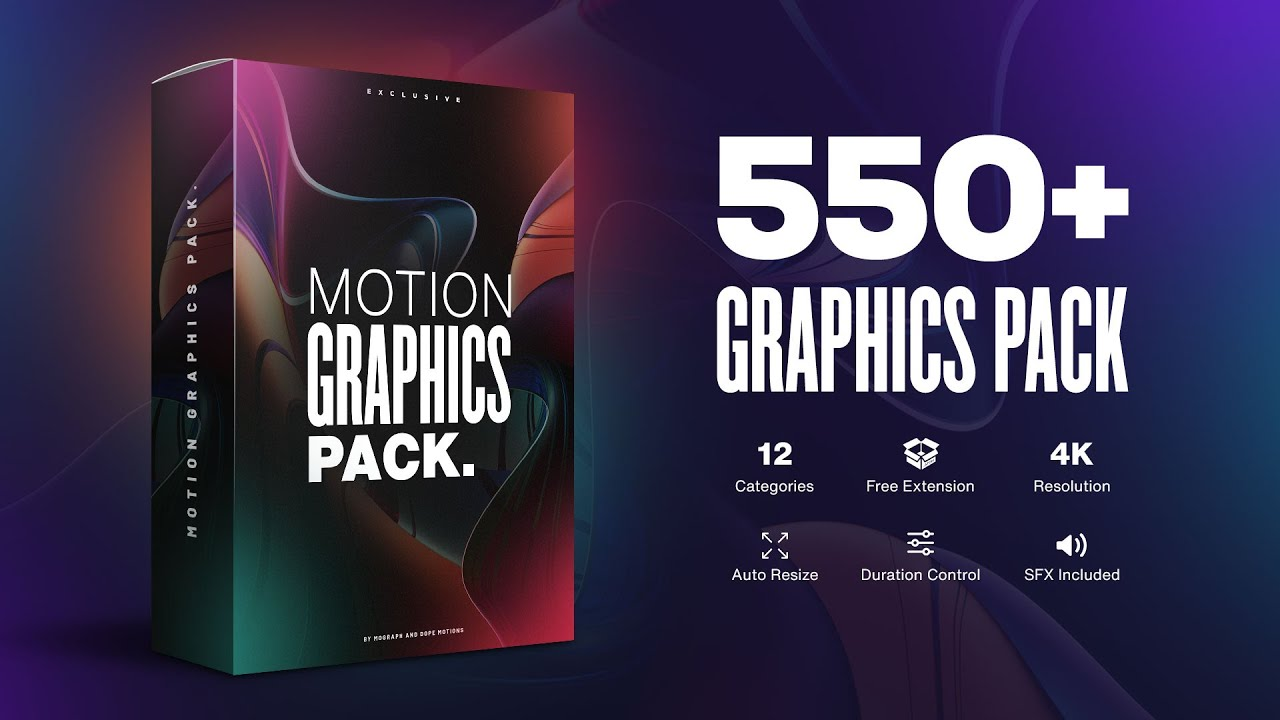 550+ Motion Graphics Pack for After Effects by Dope Motions