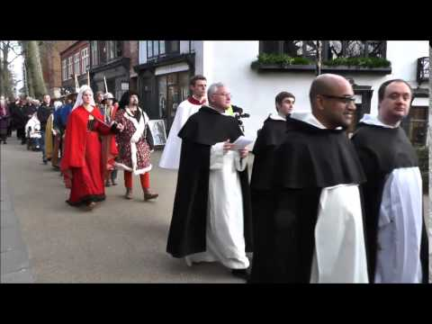 Dominican Friars procession.