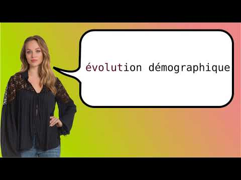 How to say 'population trend' in French?