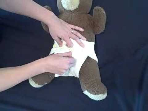 how to put on a prefold diaper with pins