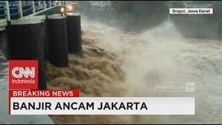 Penampakan Dahsyatnya Air Bendung Katulampa di Level Siaga 1, Jakarta Banjir