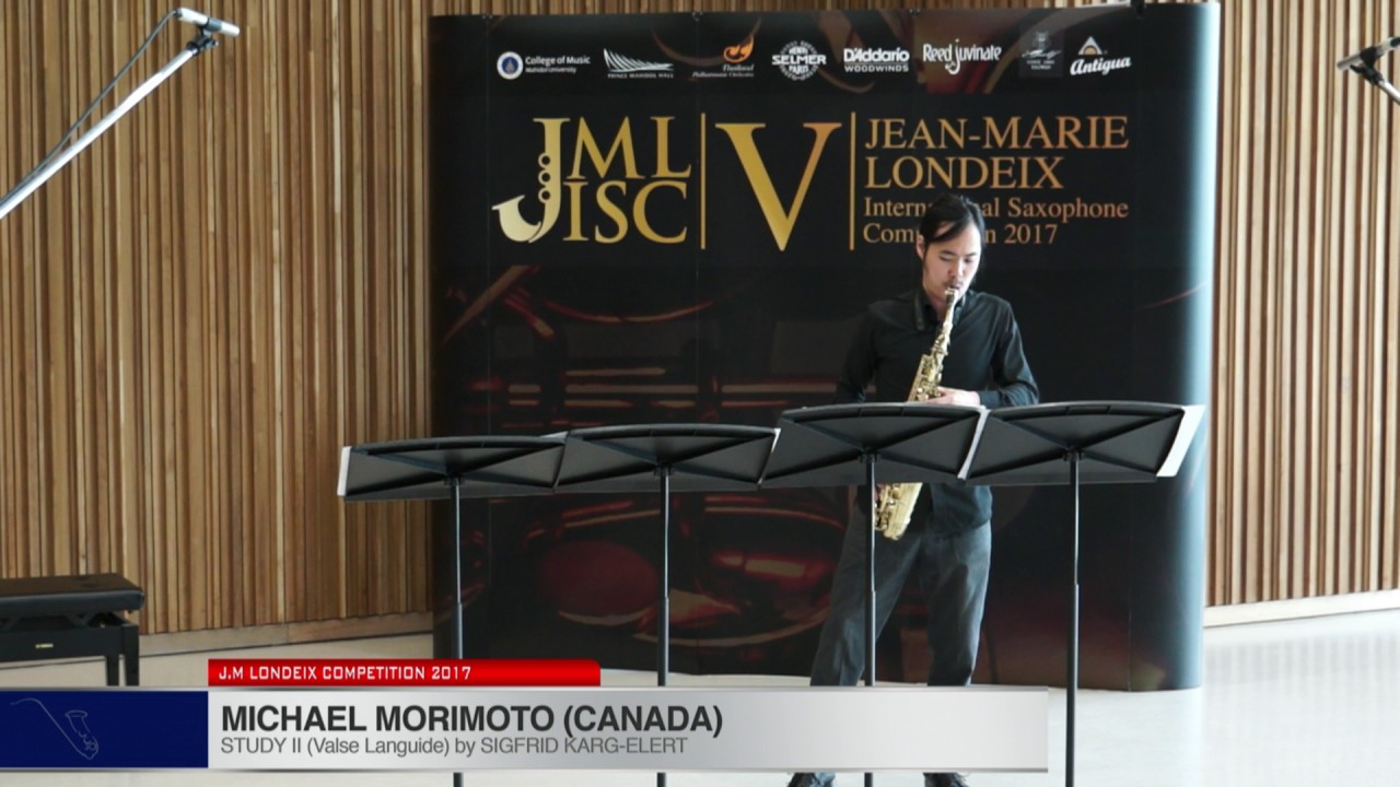 Londeix 2017 - Michael Morimoto (Canada) - II Valse Languide by Sigfrid Karg Elert