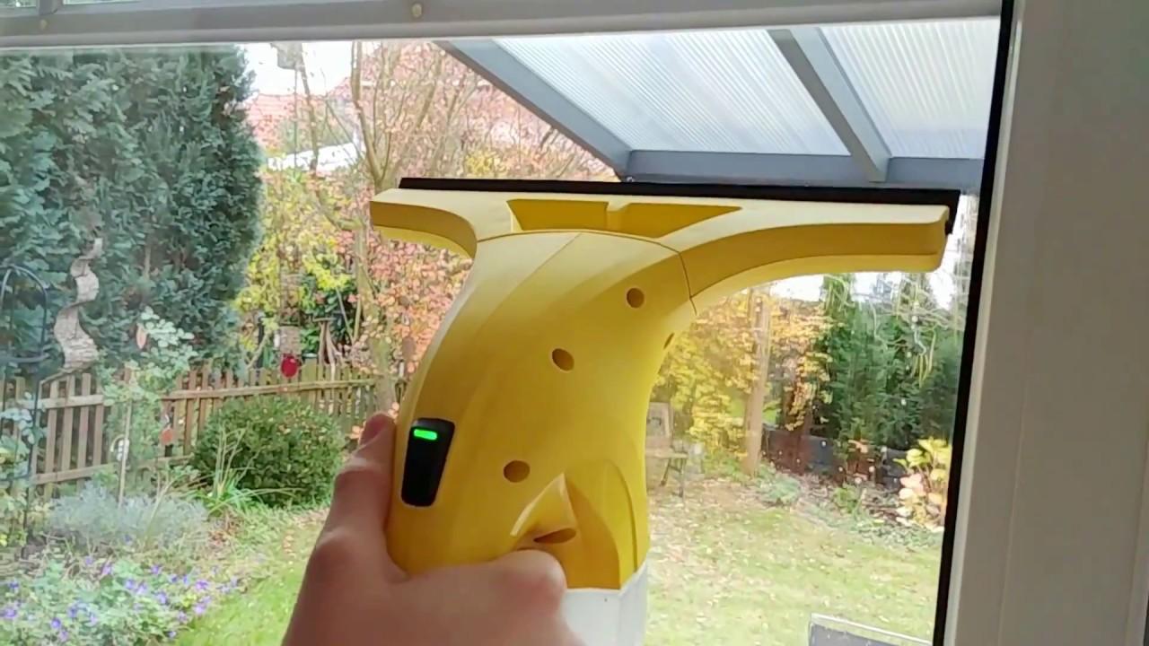 k rcher akku fensterreiniger fenstersauger karcher window vacuum youtube. Black Bedroom Furniture Sets. Home Design Ideas