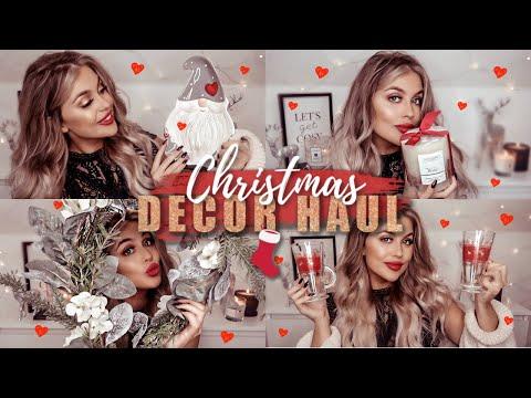 CHRISTMAS DECOR HAUL ON A BUDGET 2019! B&M, Matalan, The Range, Amazon + More | Gemma Louise Miles