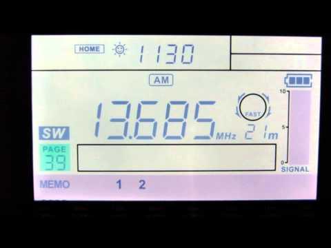 SW: Radio ERGO 13685 KHz Al Dhabbaya, United Arab Emirates 2013-10-22