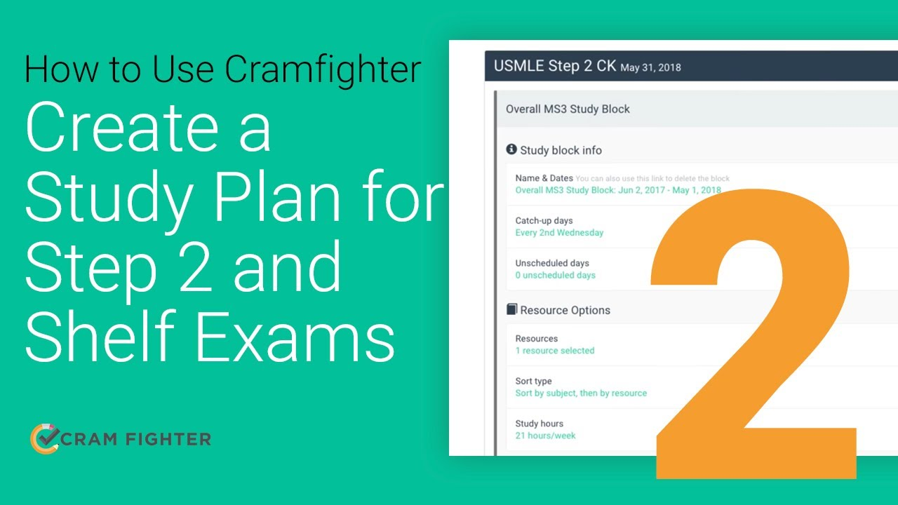 How to Create a Study Plan for Step 2 and Shelf exams