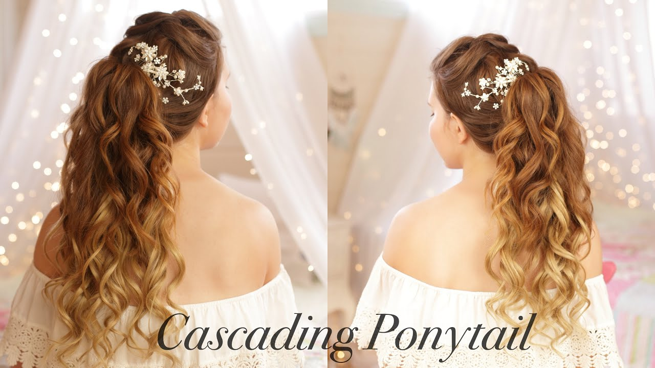 Cascading Ponytail Wedding Hairstyle