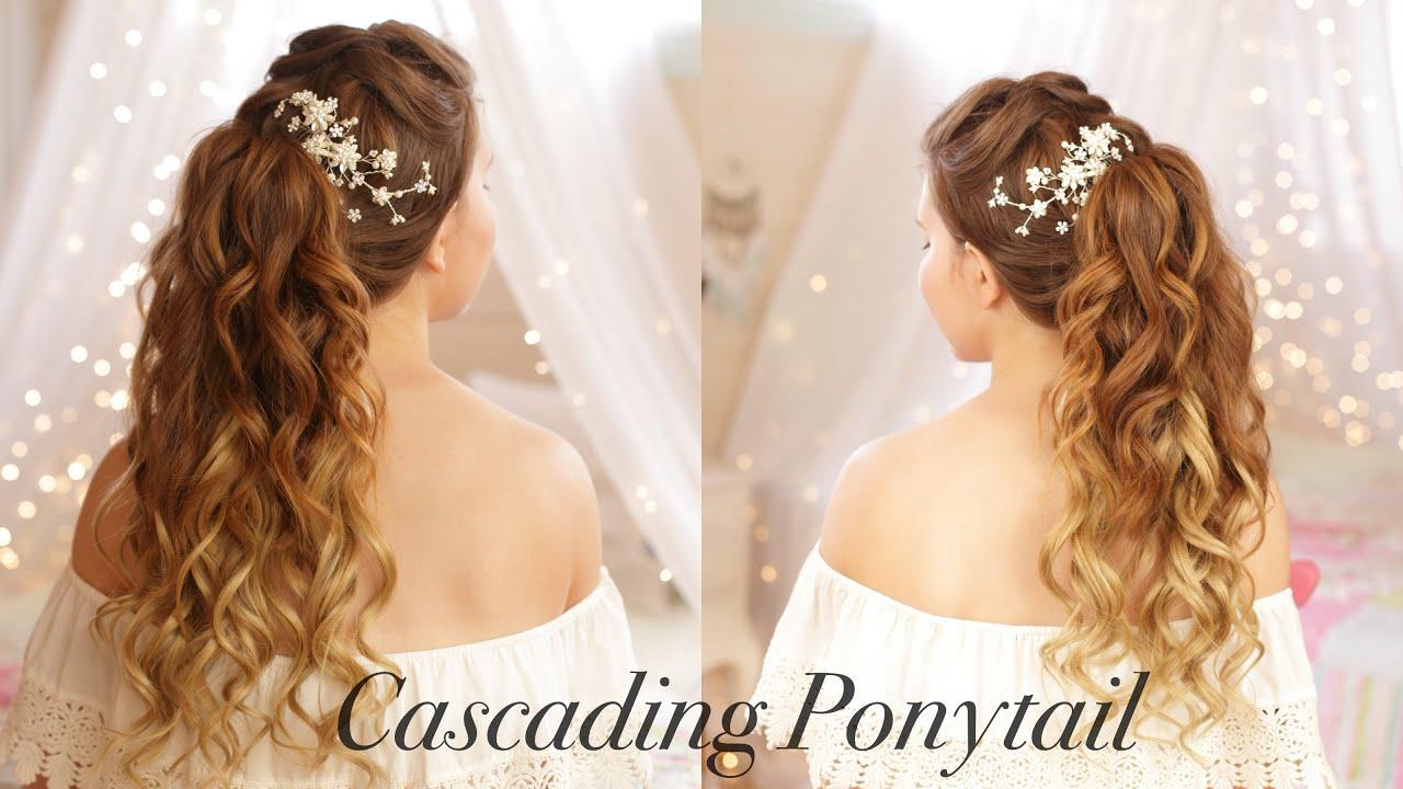 Cascading Ponytail|Wedding Hairstyle