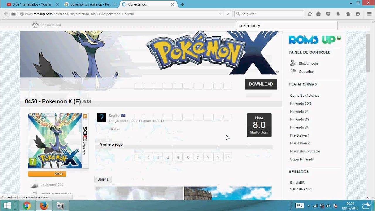 Pokemon X/Y PC ROM Emuladores 5 sites que oferecem