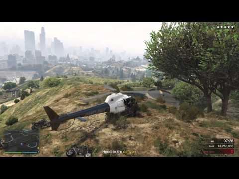 GTA V: Chopper Getaway!!! Pacific Standard Bank Job Heist!!!