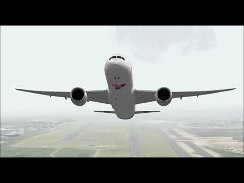 BOEING 787 9 LATAM AIRLINES TAKE OFF FROM GUARULHOS INTL AIRPORT FS9 HD