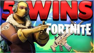 5 Wins in A Row - Squad FORTNITE Battle Royal Gameplay