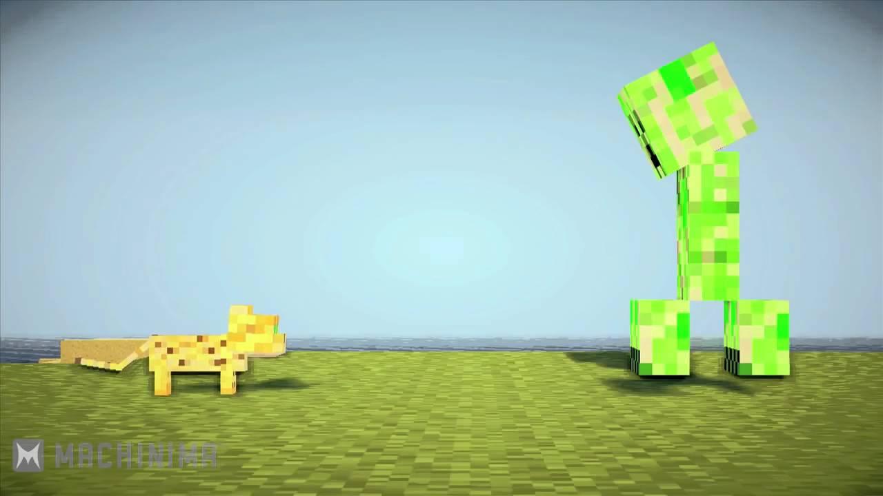 Ocelot Loves Creeper Minecraft Machinima YouTube
