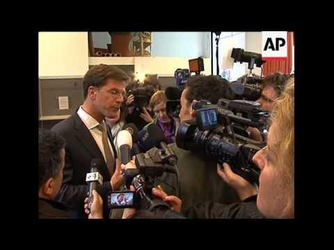 WRAP Polls open, Wilders, Rutte, Cohen cast their votes