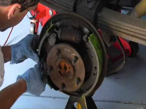 How to change Drum brake shoes Chevy Truck 8898 10x2 in drums  YouTube