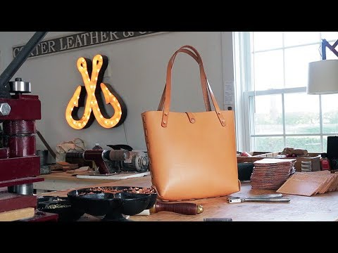 6f4ce66eee9a Making a Leather Bag without Sewing - YouTube