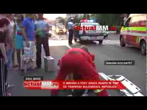 accident baia mare bd republicii trecere pietoni actualmm