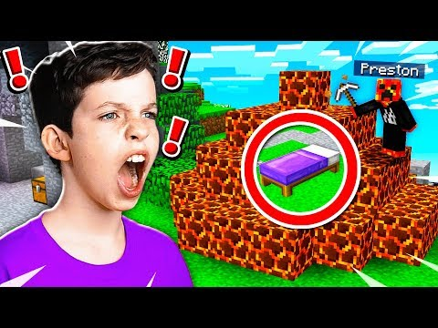 TROLLING MY LITTLE BROTHER IN MINECRAFT BED WARS! (MCPE)