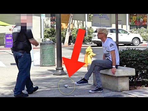 LITTERING IN FRONT OF SECURITY GUARD MAGIC PRANK!!! - Coolest Officer Ever