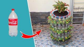 Reciclagem de Garrafas de Plástico em Vasos Verticais