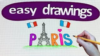 Easy drawings #170  How to draw a Paris / Eiffel Tower
