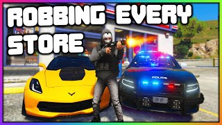 GTA 5 Roleplay - Robbing EVERY Store in The City | RedlineRP
