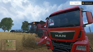 farming simulator 2015 wheat harvest wo mods claas case ih axial flow 7130 magnum man tgs