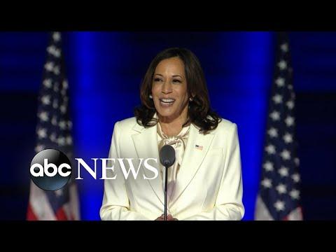 Vice President-elect Kamala Harris delivers speech ahead of Joe Biden