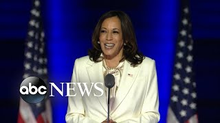 Vice President-elect Kamala Harris delivers speech ahead of Joe Biden