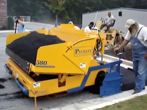 Model 580 Puckett Asphalt Paver Computer Youtube