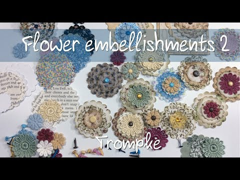 Easy flowers embellishments 2 - DIY Kit - How to