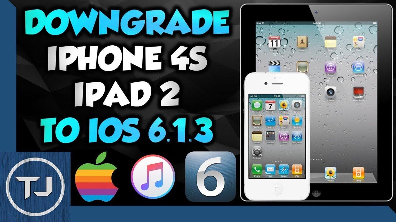 easily downgrade iphone 4s ipad 2 to ios 6 1 3 using itunes
