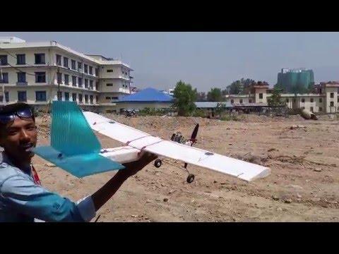 Scratch Build Rc plane Flight Nepal