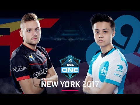 CS:GO - FaZe vs. Cloud9 [Overpass] Map 2 - Semi Finals - ESL One New York 2017