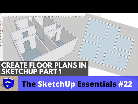 Creating 3D Floor Plans In SketchUp Part 1 - The SketchUp Essentials #22